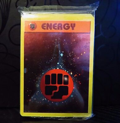 Pokemon Sealed 25x Fighting Energy 2002 Wizards Of The Coast Holo Promo Cards