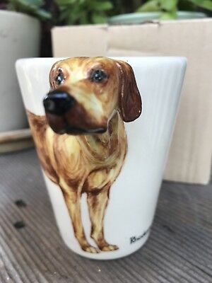 Blue Witch 3D Mug RHODESIAN RIDGEBACK Dog Ceramic Hand Crafted Cup 11 Oz