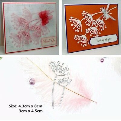 Dandelion Flower Cutting Dies Stencil Scrapbook Paper Craft Embossing Decor