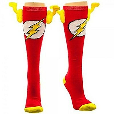*NEW* DC Comics: Flash Knee High Socks with Wings by Bioworld