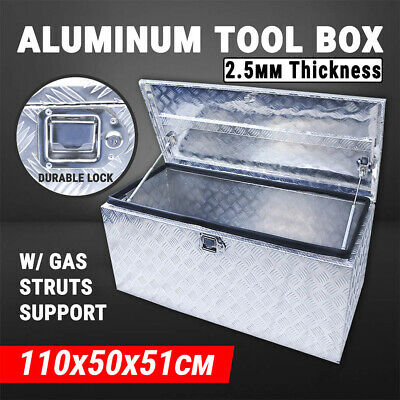 Aluminium Tool Box Truck Storage W/ Lock Site Box Toolbox UTE Trailer Caravan
