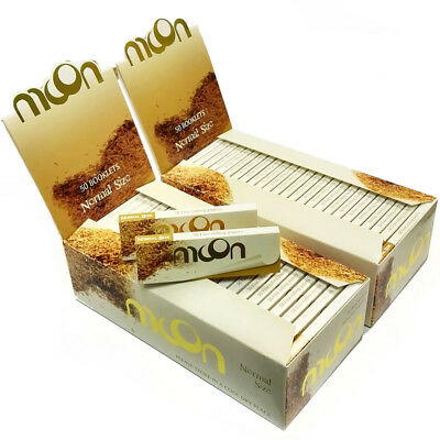 "Moon 1.0"" 100 booklets 70*36mm Cigarette Tobacco Rolling Papers Unbleached Paper"