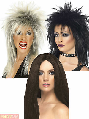 Ladies Rock Diva Wig Adults 80s Mullet Punk Fancy Dress Accessory Tina Turner