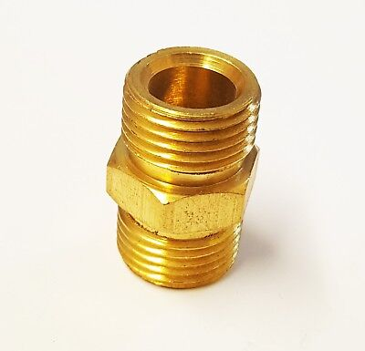 3/8 x 3/8 BSP Male Thread Brass Hex Nipple