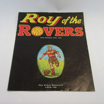 Roy of the Rovers The Final Whistle? 1954-93 (20th March 1993) Paperback