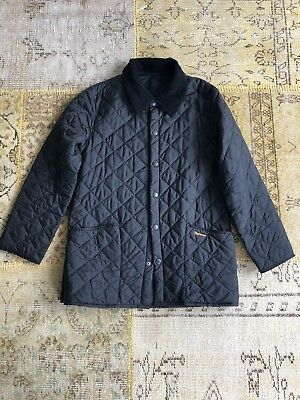 Men's Barbour Heritage Liddesdale Quilted Jacket Black  (Sz: Small) MSRP $135