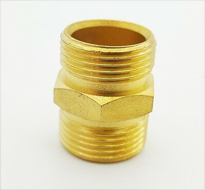 "3/8 x 3/4"" BSP Male Thread Brass Hex Nipple"