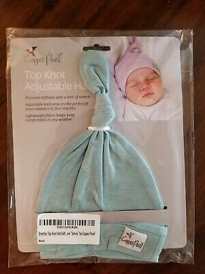 "Baby Beanie Hat Top Knot Stretchy Soft for Boy & Girl ""Sonny"" by Copper Pearl"