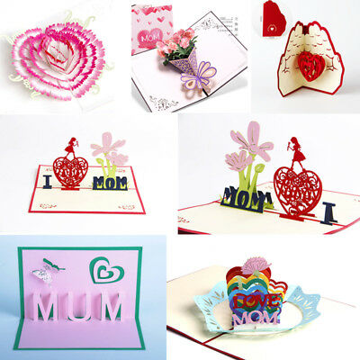 Craft 3D Pop Up Greeting Cards Birthday Mother's Day Gifts Best Wishes
