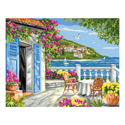 Royal Paris Tapestry Printed Canvas Garden Coast Scene | 98801320211
