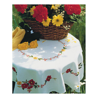 ANCHOR | Embroidery Kit: Poppies - Tablecloth | ETW11