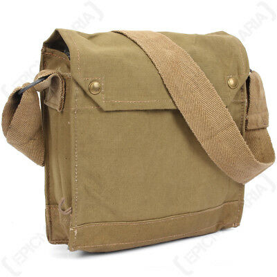 WW2 Original British MKVII Gas Mask Bag - Indiana Jones Army Messenger Satchel