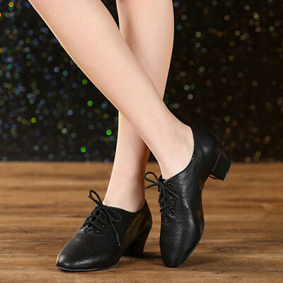 New Women Dance Shoes Soft Split Sole Ballroom Dancing Practice Shoes Low Heel