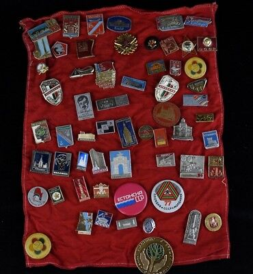 Old Soviet Russian CCCP Army Cold War Lenin Badge Medal Button Pin 60 Lot