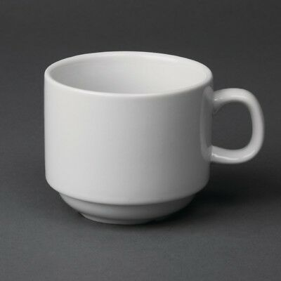 Tasse à thé empilable blanche whiteware Olympia 200ml