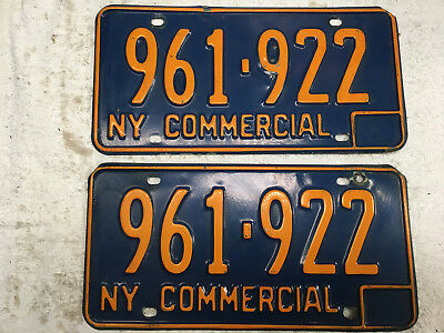 1966 New York license plate set (front-rear) COMMERCIAL