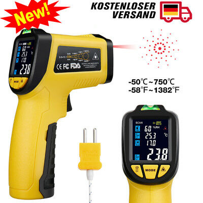 Infrared Thermometer IR-818 -58°F~1382°F Digital IR Temperature Thermocouple DE