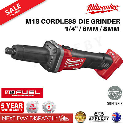 "Milwaukee Cordless 18V Die Grinder 1/4"" 6mm M18 Fuel Brushless Li-Ion Tool Skin"