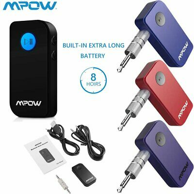 MPOW Wireless Bluetooth Receiver Car Kit 3.5mm Stereo AUX Music Adapter AU