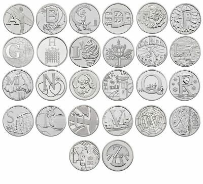A-Z Alphabet 10p Piece - Ten Pence Coins Collection - 2018 & 2019