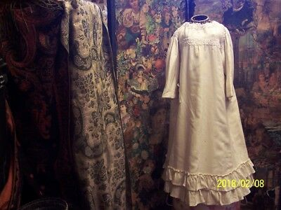 A girls, antique, edwardian dress. White edwardian lace.
