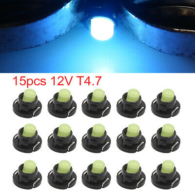 15pcs 12V Ice Blue T4.7 Car Wedge LED Dash Gauge Instrument Panel Light Interior