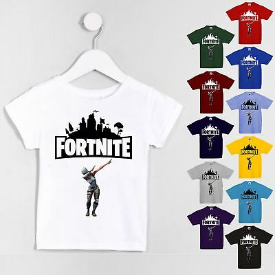 Kids Boys Girls Fortnite Dab Inspired Cool Funny T-shirt PS4 Xbox Gaming Tee Top