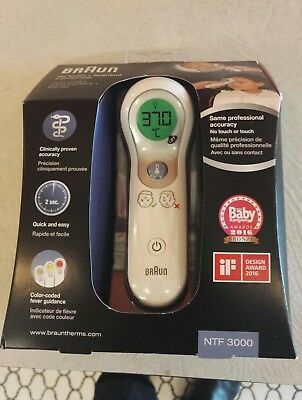 Braun NTF3000 No Touch Plus Forehead Digital Baby Child Thermometer NEW IRT4520