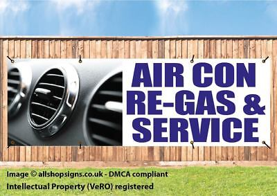AIR CON SERVICING AIR CONDITIONING OUTDOOR SIGN waterproof PVC with Eyelets
