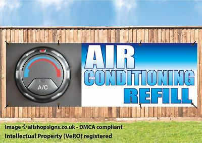 AIR CON SERVICING AND REFILL OUTDOOR SIGN BANNER waterproof PVC with Eyelets