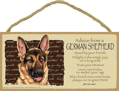 Advice from a German Shepherd Inspirational Wood Dog Sign Plaque Made in USA
