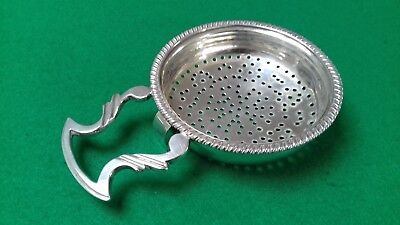 Rare Silver Scottish Lemon Strainer Glasgow 1819 Robert Gray & Son.