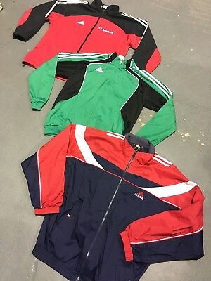 Wholesale Vintage Lot 80's 90's 00's Sports Tracksuit Tops Branded Mix x 50