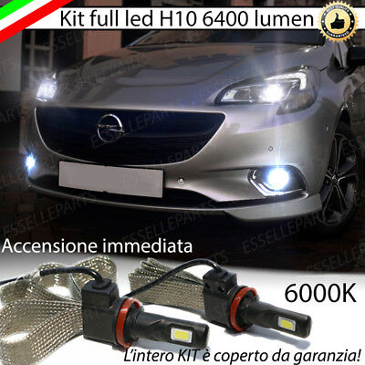 Kit Full Led Opel Corsa E Lampade H10 Fendinebbia Canbus 6400L 6000K No Error