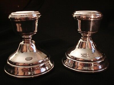 SUPERB PAIR OF HM SILVER DWARF CANDLE STICKS BY B & Co