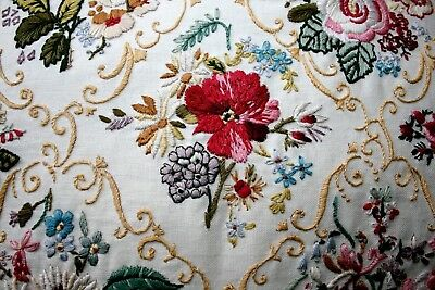 Vintage Hand Embroidery Cushion Cover - Flowers