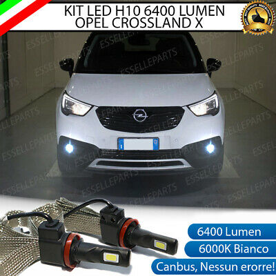 Kit Full Led Opel Crossland X H10 Fendinebbia Canbus 6400L 6000K No Error