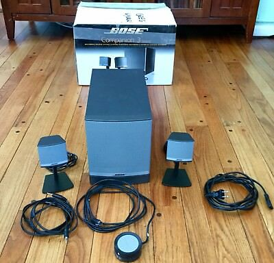 Bose Companion 3 Series II Multimedia Speaker System Awesome Sound !
