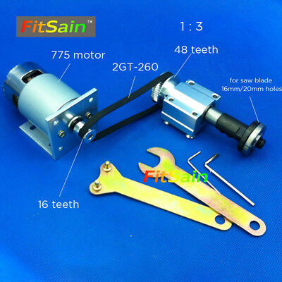 FitSain-775 24V 8000RPM for saw blade 16mm/20mm spindle Cutting saws 2GT Pulley