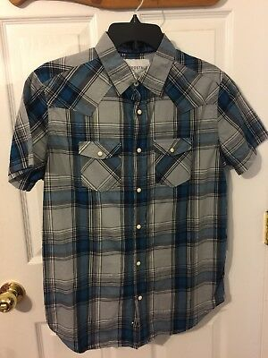 Aeropostale blue/gray/white Boy's short sleeved shirt - Size Small with tags