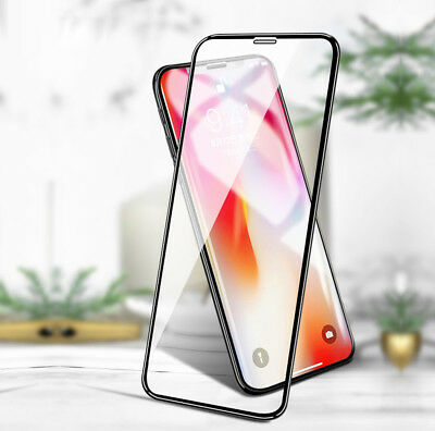 Premium 5D Display Schutz Panzerglas iPhone X Full Cover Echt Glas Folie 9H