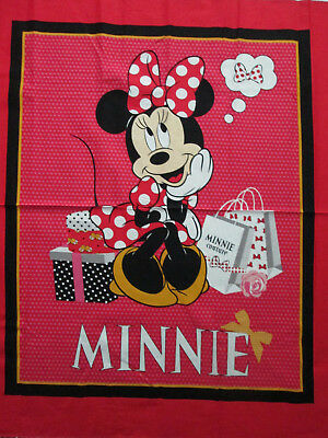 Classic Minnie Mouse Shopping Large Cotton Fabric Panel