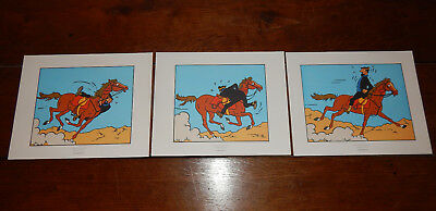"3 LITHOGAPHIES TINTIN Couleur  "" Coke en Stock "" Hergé  Moulinsart 2011"