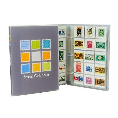 Mini Stamp Collection Kit/Album, w/ 10 Pages, Holds 150-300 Stamps (No Stamps)