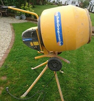 Belle Minimix 130 Electric Concrete Cement Mixer And Stand - DIY use only