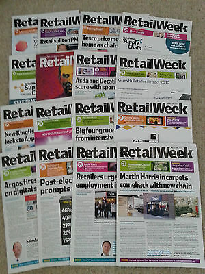 RRP £112 Feb-May 2015 RETAIL WEEK professional retail magazine, 16 issues NEW