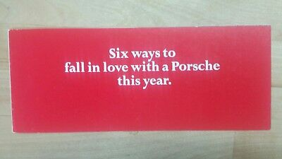1971 911/914 Six ways to fall in love with a Porsche this year brochure