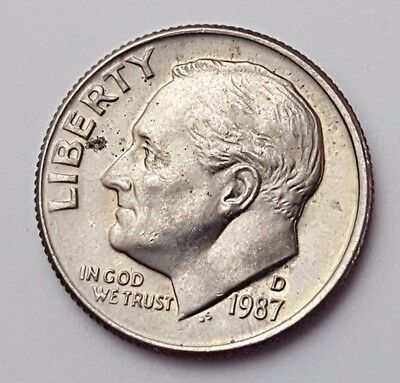 Dated : 1987 - USA - Roosevelt - One Dime - Coin - United States of America