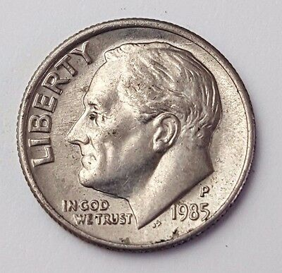 Dated : 1985 - USA - Roosevelt - One Dime - Coin - United States of America