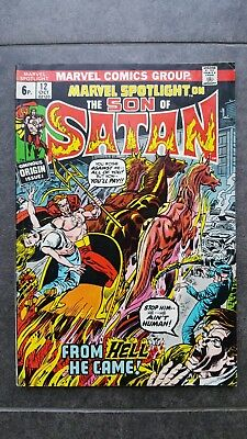 MARVEL SPOTLIGHT #12_OCTOBER 1973_2nd APPEARANCE & ORIGIN SON OF SATAN!